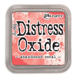Ranger Tim Holtz distress oxide abandoned coral