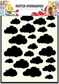 Dutch Doobadoo Dutch Mask Art stencil Clouds A5 470.715.029