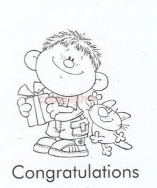 Nellie`s Clearstamps Schoffie`s 001 congratulations