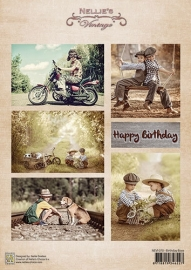 Decoupage sheet vintage - Birthday boys NEVI070