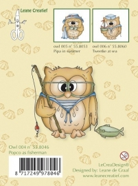 Clear Stamp Owl Popco as Fisherman