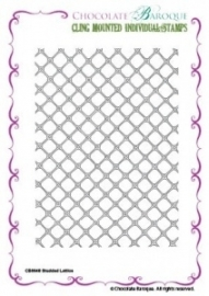 Studded Lattice cling mounted rubber stamp 046
