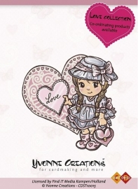 Yvonne Creations Stamps Love Girl CDST10015