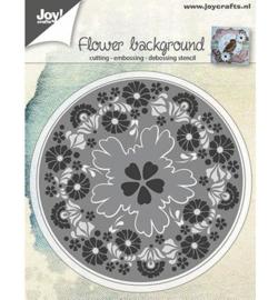Joy! snij- embossingmal Bloemen achtergrond 6002/0565