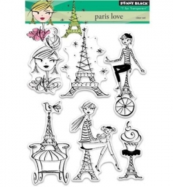 Penny Black Clearstamp Paris love 30332