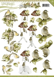 3D Knipvel - Precious Marieke - Springtime - Young Birds CD10617