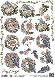 3D Knipvel - Amy Design - Kerst vogels CD10310