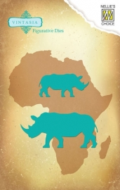 Vintasia Die - Big-Five serie Rhinoceros VIND031