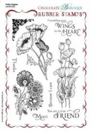 Pretty Poppies Rubber stamp sheet - A5 UA5SP0395