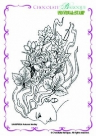 Autumn Medley Single Rubber stamp - A6 0524