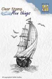 NS Clear stamps - Men things - Sailing boat CSMT006