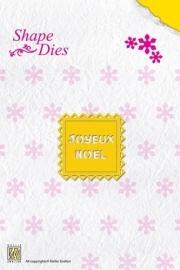 Nellie`s Shape Die Text Joyeux Noël
