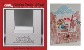 Crealies Create A Card no. 4 stans voor kaart CCAC04 / 13,5 cm x 27 cm