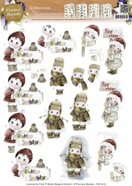 Precious Marieke Glamorous Christmas Kids in the snow CD10418