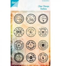 Joy! Clearstamp Engels Buttons 6410/0096