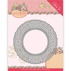 Die - Yvonne Creations - Get Well Soon - Flower Doily YCD10101