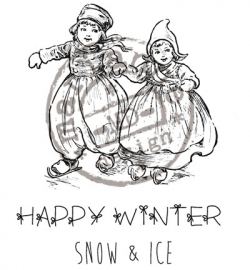 MD Cling Stamp - Happy Winter CS0906