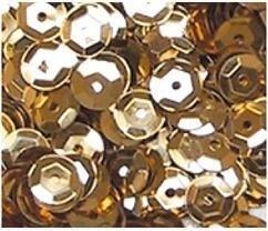 Pailletten facon 6mm 7gr Goud