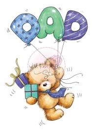 Wild Rose Studio stamp set Dad Balloons CL296