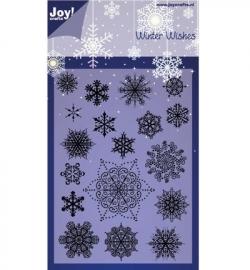 Joy! Clearstamp sneeuwvlokken 6410/0125