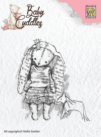 NS Clear Stamps - Baby Cuddles - Cuddly  Rabbit  CSBC001