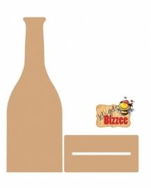 Let`s get Bizzee Champagnefles met voetje MDF 250 x 90MM