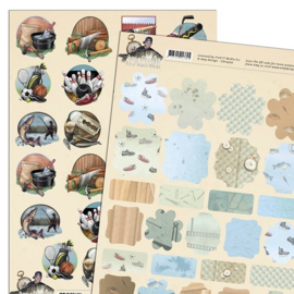 Amy Design - 3D-knipvel A4 - It's a man's world - Mini's & labels - CD10499