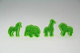 Makin's Clay Plunger Cutters (Elephant Lion Zebra Giraffe) (35005)