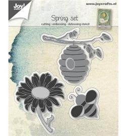 Joy Crafts » Cutting & Embossing Bij, korf & zonnebloem 6002/0669