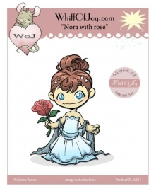 Whiff Off Joy Nora With Rose Rubberstamps