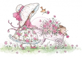 Wild Rose Studio stamp set Annabelle with Barrow CL290