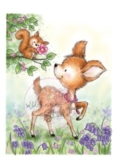 Wild Rose Studio`s A7 stamp set Squirrel on Branch CL375
