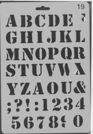 Sjabloon Alfabet 19