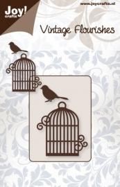 Joy! Vintage Flourishes vogelkooitje + vogeltje 6003/0034