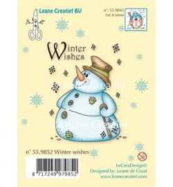 Clear Stamp - Snowman Winter Wishes 55.9852