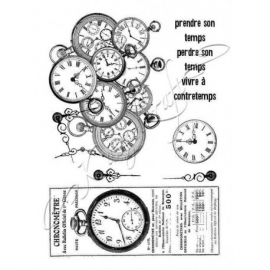 Chrono - Rubber stamp - French Style KTZ122