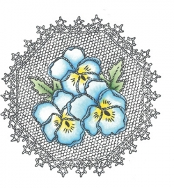 MD Cling Stamp Pansies TC0832