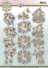 3D Knipvel - Yvonne Creations - Spring-tastic - Butterflies  CD10817