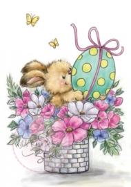 Wild Rose Studio`s A7 stamp set Easter Bunny CL486