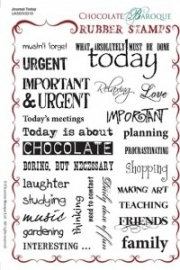 Journal Today Rubber Stamp Sheet - A5