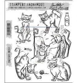 Tim Holtz Framelits Crazy Cats 22 Dies 661209