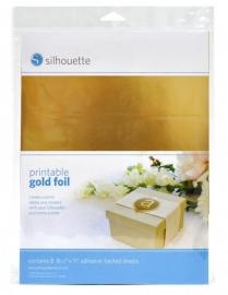 Printable Gold Foil Pakket van 8 vellen 216x297mm