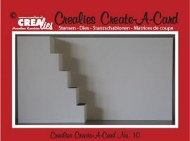 Crealies Create A Card no. 10 stans voor kaart CCAC10 / 13,5 cm x 27 cm
