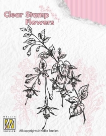 NS Clear Stamp Flowers - Fuchsia FLO008