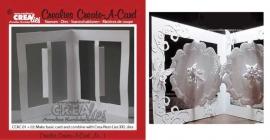 Crealies Create A Card no. 1 stans voor kaart CCA01 / 10,5 cm x 29,8 cm
