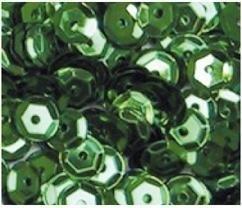 Pailletten facon 6mm 7gr  groen