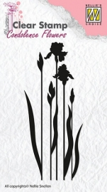 NS Clear stamps - Condolence flowers flower-4