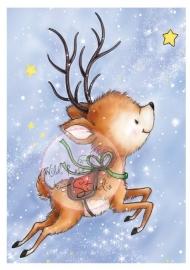 Wild Rose Studio`s A7 stamp set Reindeer Flying CL427
