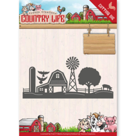 Dies - Yvonne Creations - Country Life Farm Border YCD10125