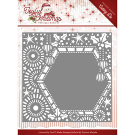 Die-Precious Marieke - Joyful Christmas - Ribbon frame PM10108